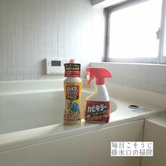 掃除/浴室/パイプユニッシュ/カビキラー/排水口の掃除/毎日こそうじ/... こんばんは🌃 . . 今日のこそうじは、…