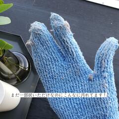 そうじの神様 おそうじ手袋 3つ指 青(モップ、雑巾)を使ったクチコミ「こんばんは😃🌃 . . 今日のこそうじは…」(6枚目)