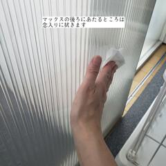 簡単こそうじ/ホームリセットシートクリーナー/拭き掃除/仕切り扉の拭き掃除/毎日こそうじ/こそうじ こんばんは🌃 . . 今日のこそうじは、…(3枚目)