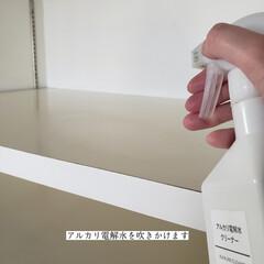 キッチン収納/キッチン収納棚/整理整頓/洗って使えるペーパータオル/アルカリ電解水/キッチン背面収納の拭き掃除/... こんばんは🌃 . . 今日のこそうじは、…(3枚目)