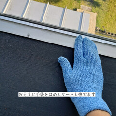 そうじの神様 おそうじ手袋 3つ指 青(モップ、雑巾)を使ったクチコミ「こんばんは😃🌃 . . 今日のこそうじは…」(4枚目)