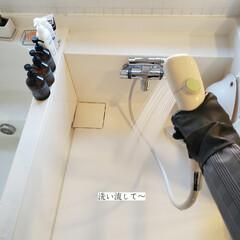 ドイツふきん/掃除/浴室/風呂床の洗浄剤/木村石鹸/風呂床の掃除/... こんばんは🌃 . . 今日のこそうじは、…(5枚目)