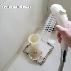 詰まり予防/排水口掃除/カビキラー/パイプマン/排水口のお手入れ/こそうじ/... こんばんは🌃 . . 今日のこそうじは、…(4枚目)