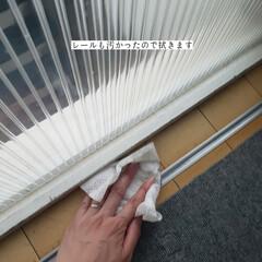 簡単こそうじ/ホームリセットシートクリーナー/拭き掃除/仕切り扉の拭き掃除/毎日こそうじ/こそうじ こんばんは🌃 . . 今日のこそうじは、…(6枚目)
