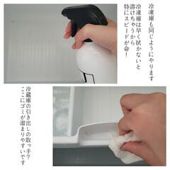 洗って使えるペーパータオル/ジェームズマーティン/冷蔵庫/冷蔵庫の掃除/拭き掃除/毎日こそうじ/... こんばんは😃🌃 . . 今日のこそうじは…(6枚目)