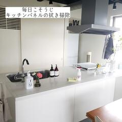 キッチン用おそうじクロス/そうじの神様/ママラクリーン/アルカリ電解水/キッチンパネルの拭き掃除/拭き掃除/... こんばんは😃🌃 . . 今日のこそうじは…