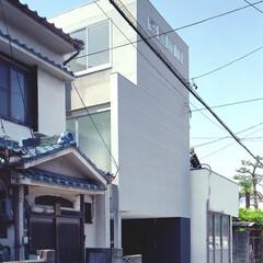 名古屋/アルスター鋼板小波板/フロストガラス シンプルでミニマムな外観。