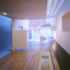 名古屋/クリフローリング/フロストガラス/ファインフロア 主室、エントランス、たらすと連続する空間。