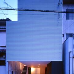名古屋/アルスター鋼板小波板/ガレージ シンプルでミニマムな外観。