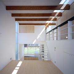 豊川市/ハイサイドライト/スプルス ハイサイドライトからの光が差す主室。