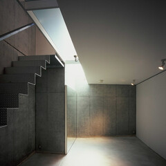 大井町/地下/店舗 地下の店舗、1階ガラス床から光が届く。
