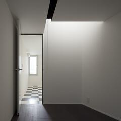 亀戸/狭小/三角形/市松模様/ハイサイドライト 市松模様の床の個室と手前のハイサイドライ…