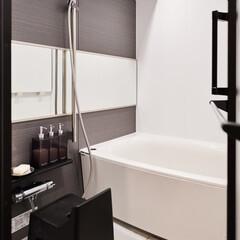 浴室/モノトーン/スッキリ 浴室もモノトーンで統一しました。
