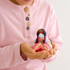 ふらここ/お雛様/ひな祭り/雛人形/桃の節句 お子様の手にもすっぽり収まる、ちいさなか…