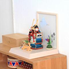 ふらここ/鎧飾/五月人形/男の子/赤ちゃん/子供の日/... コンパクトながら本格的な鎧飾✨ 保管場所…(1枚目)