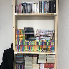収納/DIY/DVD収納/DVDコレクター/こだわりの並べ方/多すぎて紹介しきれない/... 漫画やDVDを買い漁り過ぎたために、急遽…