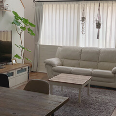 ナチュラルも好き/男前ナチュラル/こたつ天板DIY/こたつテーブルdiy/LIMIAインテリア部/雑貨/... 前に作った私の部屋のこたつテーブルをリビ…