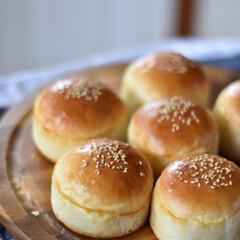 おうちごはん/手作りパン お昼ごはんのために焼いたバンズと、残った…
