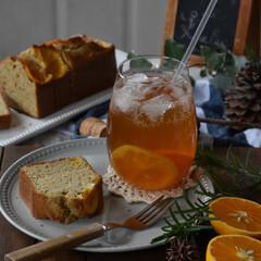 手作りケーキ/手作りお菓子/手作りスイーツ/手作りおやつ 今日のおやつ。 オレンジのコンフィを使っ…(3枚目)