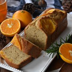 手作りケーキ/手作りお菓子/手作りスイーツ/手作りおやつ 今日のおやつ。 オレンジのコンフィを使っ…
