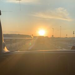 夕日 末っ子の⚽️応援の帰り道🌇 キレイな夕日…