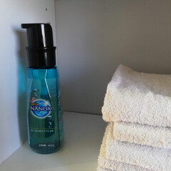 ナノックス/プッシュ式/簡単/使いやすい/洗剤/洗濯/... ナノックスのプッシュ式の洗剤が最近のお気…