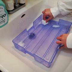 お道具箱/掃除/メラミンスポンジ/鉛筆汚れ/子どもにもできる/簡単/... 春休みにやっておきたいお道具箱の掃除。プ…