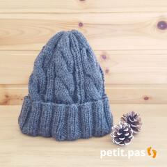 棒編み/ニット帽/手編み帽子/手編み/ハンドメイド 大人サイズのニット帽  今回は、ミニチュ…