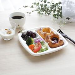 サンナップ/紙皿/白/ペーパー/おしゃれ/うちカフェ/... 白色の紙皿は食材を綺麗に映してくれます🍽…