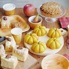サンナップ/秋スイーツ/紙皿/プレート/テーブルコーディネート/おうちカフェ/... 秋スイーツが大集合で、思わず目移りしてし…