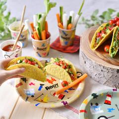 サンナップ/ロディ/紙皿/ランチ/パーティー/テーブルコーディネート/... 野菜たっぷりのタコス!ロディのお皿でいた…(1枚目)