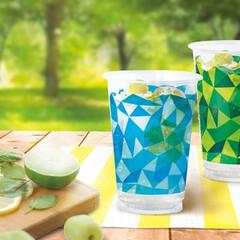 雑貨/カップ/クリアーカップ/簡易食器/アウトドア/かわいい/... 《PLANO》は、中間層に再生PET使用…