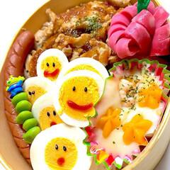 お弁当/パパ弁当/LIMIAごはんクラブ/わたしのごはん/グルメ/フード ゆで卵、そのままよりこっちの方がいーでし…