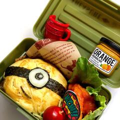 オムライス/ミニオン/お弁当/スタミナ丼/夏に向けて/スタミナご飯/... お弁当箱小さめ希望🤚 っと言われたので …