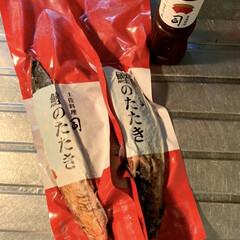 アサヒ  スタイルフリー/残り物/きのぴさん/お取り寄せ/白和え/作り置き/... 晩酌ご飯です。 鰹のたたき(玉ねぎ、みょ…(2枚目)