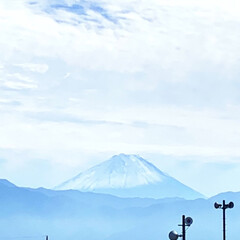 富士山/富士山が見える家 富士山 キラキラ輝いてたのでパシャリ📸