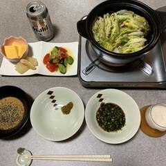 簡単レシピ/晩ごはん/作り置きレシピ/晩酌ご飯/暮らし/節約 晩酌ご飯です。コロナの影響で仕事が休みに…