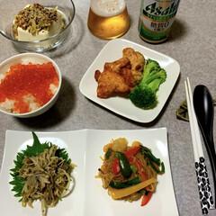 作り置き/晩ごはん/晩酌ご飯/簡単/時短レシピ 晩酌ご飯です。 豆腐納豆、柚子胡椒味。い…