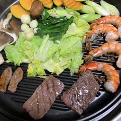 焼肉/晩酌ご飯/おうちごはん/簡単/暮らし 晩酌ご飯です 先日の晩酌ご飯は焼肉!  …