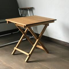暮らし/木工/折りたたみテーブル/アウトドア/キャンプ/インテリア/... 折りたたみテーブル。  詳細はInsta…