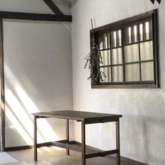インテリア/家具/住まい/ハンドメイド/テーブル/古材/... 古材を使用した組み立て式テーブル什器。 …