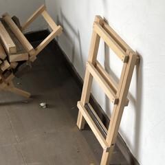 アウトドア/インテリア/木工/キャンプ道具/キャンプギア/焚き火/... 薪スタンド(折りたたみ式)  キャンプの…(5枚目)