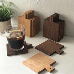 カフェ/コーヒー/日用品/生活雑貨/木工品/暮らし/... コースター。