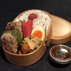 曲げわっぱ/お弁当/今日のお弁当/わっぱ弁当/手作り弁当/LIMIAごはんクラブ/... * * 今日のお弁当は ピーマンの肉詰め…