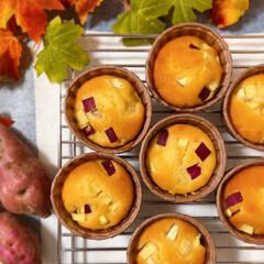 リミアな暮らし/ホットケーキミックス/手作りお菓子 さつまいもマフィン✨ さつまいもたっぷり…(1枚目)