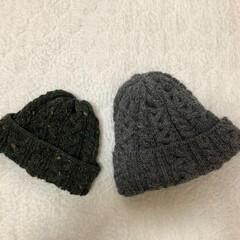 リミアな暮らし/お揃い/ニット帽/手づくり お揃いがしたくて息子にニット帽を作りまし…