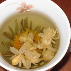 小さい春 蒸らすとお花が咲くお茶でほっこり。 小さ…
