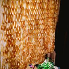 ダイソー 毛糸3本を1本で大きめなブランケット制作…