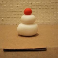 樹脂粘土/ダイソー/お正月2020 ダイソーの樹脂粘土で作った鏡餅です。 み…