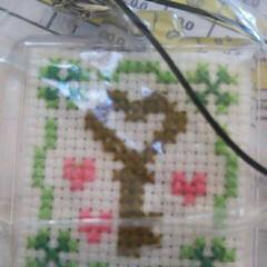 クロスステッチ刺繍 刺繍(*^^*)
